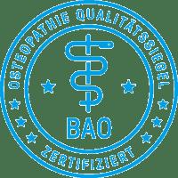 Bild BAO - Osteopathie Qualitätssiegel mit Link